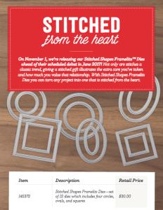 Stitched Shape Framelits Dies