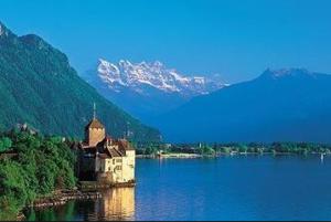 Lac Leman, Chillon Castle, Switzerland