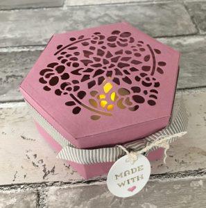 Sweet Sugarplum window box thinlits tealight holder