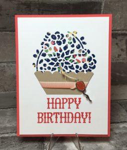 Window Shopping stamp set, SU, 143265, birthday card