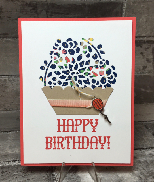 Window Shopping stamp set, SU, 143265, birthday card