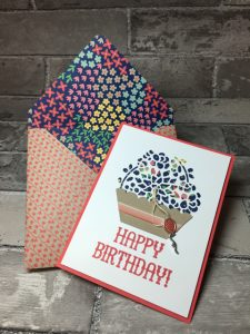 Coordinating Affectionately Yours Designer Paper card and envelope