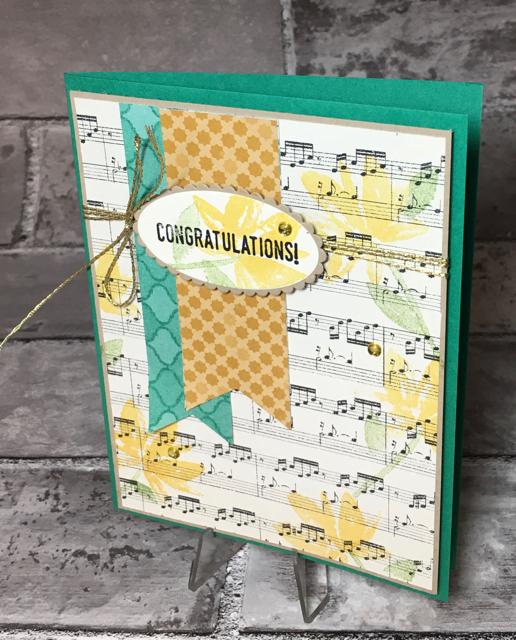 Congratulations music card