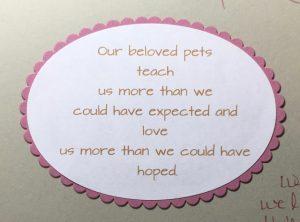 Loss of pet sentiment