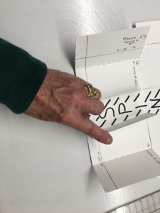 6- fold 1-3/4 piece into 'u'
