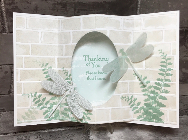 Sympathy Tunnel Card, inside