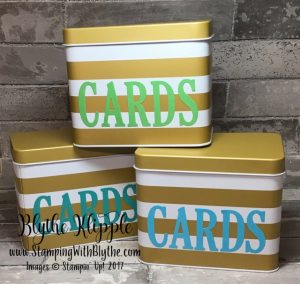 2017 Sale-a-Bration offering Card Files for Blythe's Buffet attendees