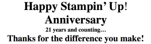 Making a difference with Stampin' Up!