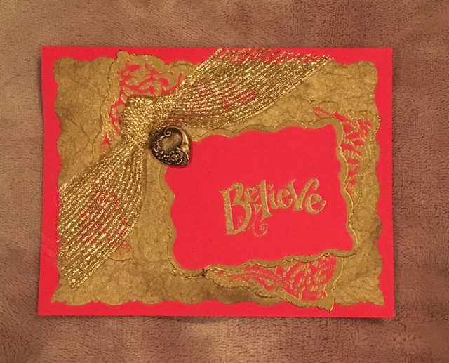 Believe graduation card