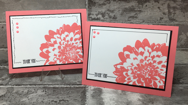 Definitely Dahlia Background Stamp thank you cards