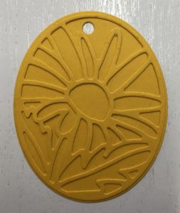 Background layer and die cut layer for the flower, Timeless Tags Thinlits Dies, 144725, $25