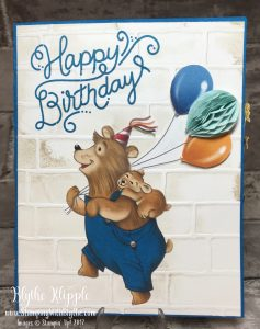 Birthday Delights: Happy Bear was my first card