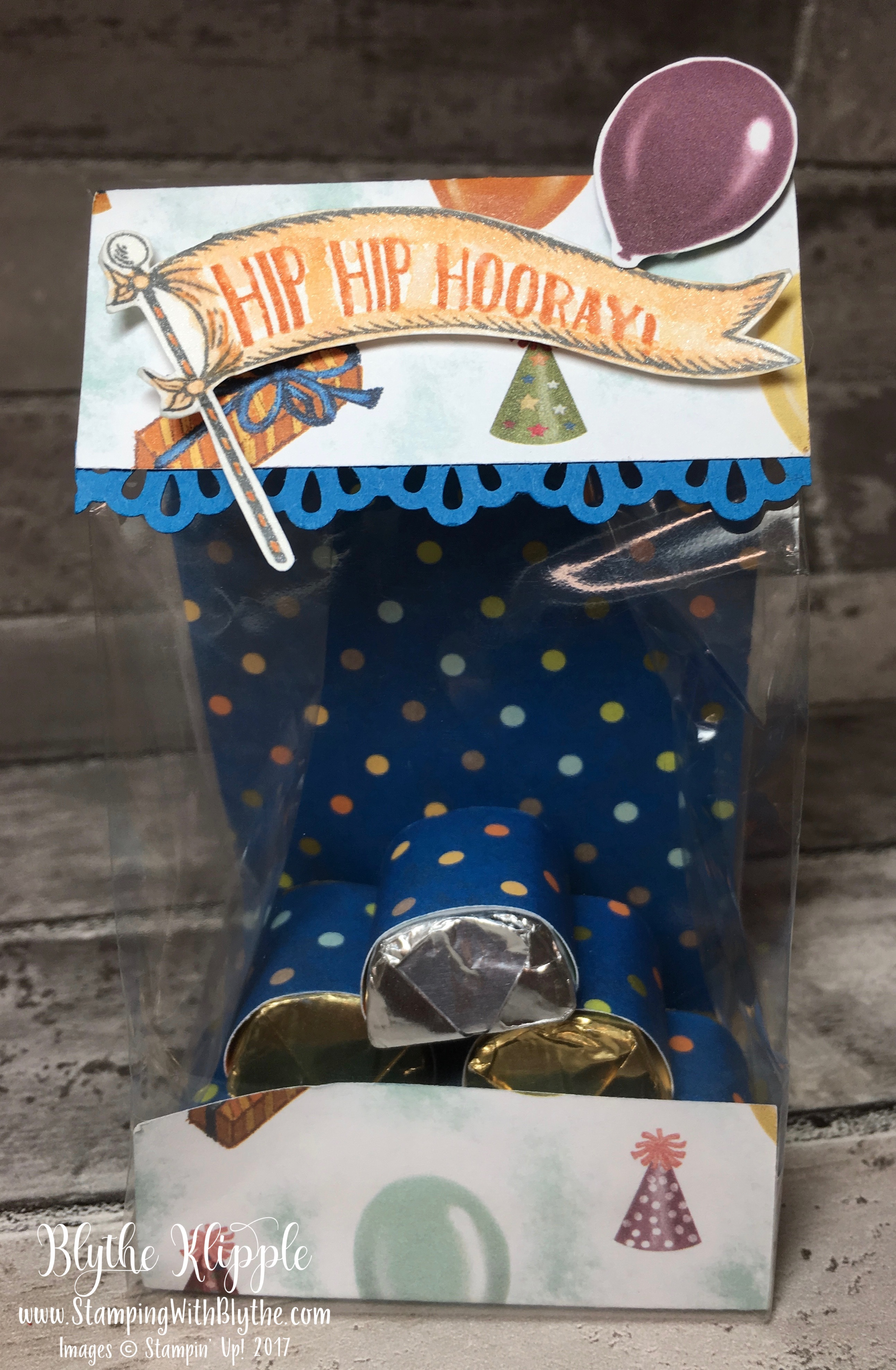 Chocolate nugget cello gift bag