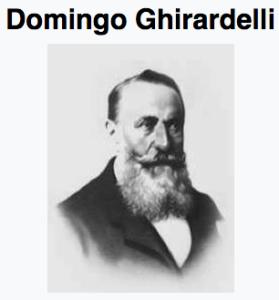 Domingo Ghirardelli, chocolatier