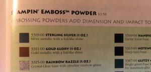 Stampin' Emboss Powder