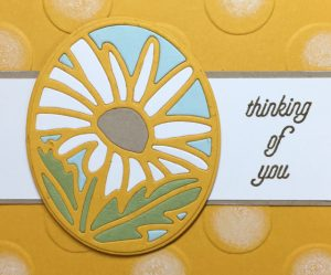 Color pieced daisy from the Timeless Tags Thinlits Dies