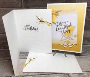 Colorful Seasons birthday card/envelope