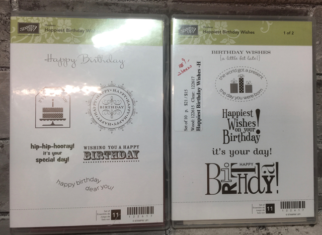 Happiest Birthday Wishes, 2 boxes, clear mount, Cyber Sale $9