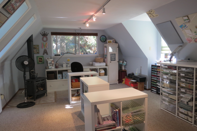 Freshly painted stampin' studio, post 2014 Cyber Sale