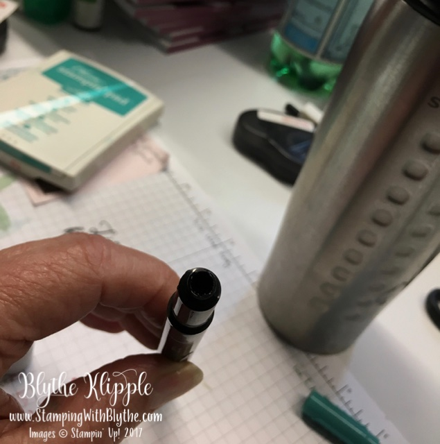 Place refill ink in this little opening