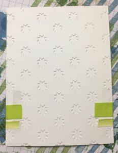 Back side of card layer - ribbon attachment