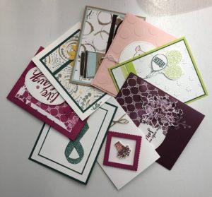June 2017 Card Buffet selections
