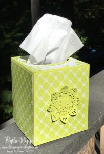 Tissue box with Eastern Medallion Thinlits