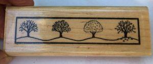 "Stamp Cabana, All Season Trees, 4-1/2"" x 1-1/2"""