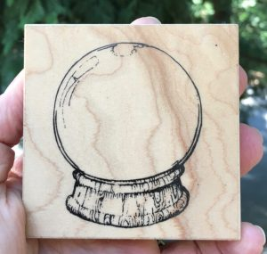 """Visual Image Printery Snow Globe, 3"""" x 3"""""""