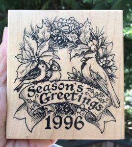 """PSX 1996 Seasons Greetings, 4"""" x 3-5/8"""""""