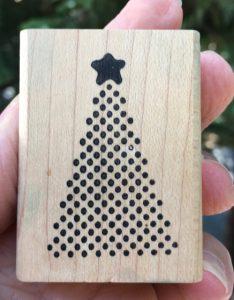 "Annette Allen Watkins, Dotted Christmas Tree, 1-1/2"" x 2"""