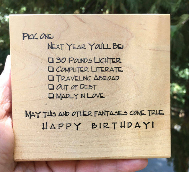 "Cozzers Collectibles, Birthday Fantasies, 4-1/2"" x 4"""