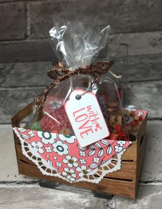 Candy filled crate