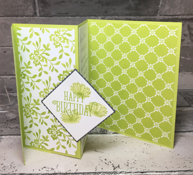 Tri-fold Card, partially open