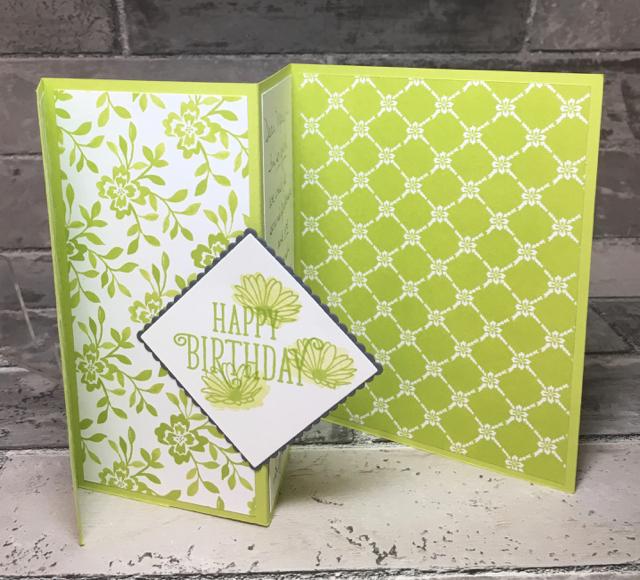 Tri-fold Card, partially open