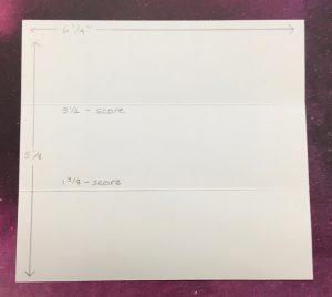 Window box die measurements