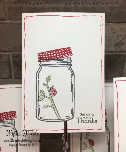 Spaghetti TY card - SHARING SWEET THOUGHTS