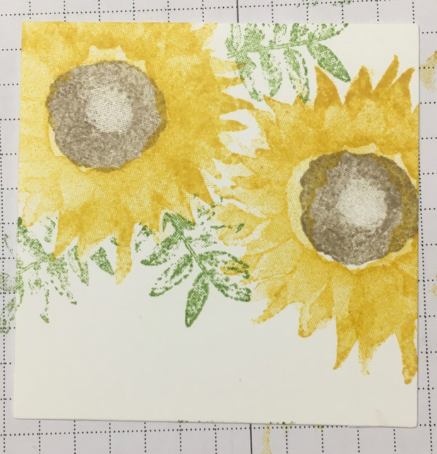 Remove mask and reveal leaf placement 'behind' the flowers