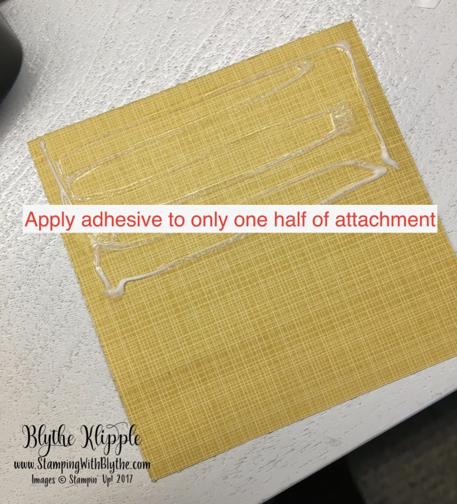6- apply adhesive to only half of layer