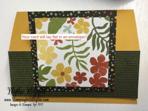 7- card will lay flat in envelope
