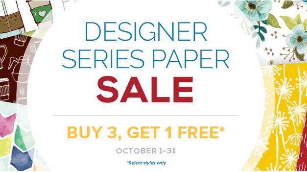 Designer Series Paper Sale Oct 2017