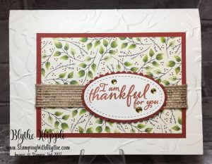 Stepped up 'thankful' card