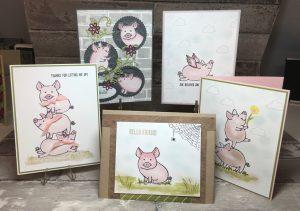 all five piggy cards