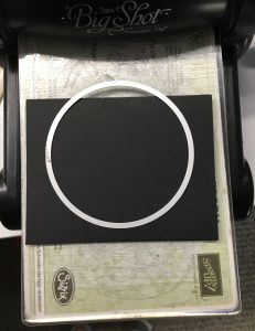 Cut card base using layering circle die