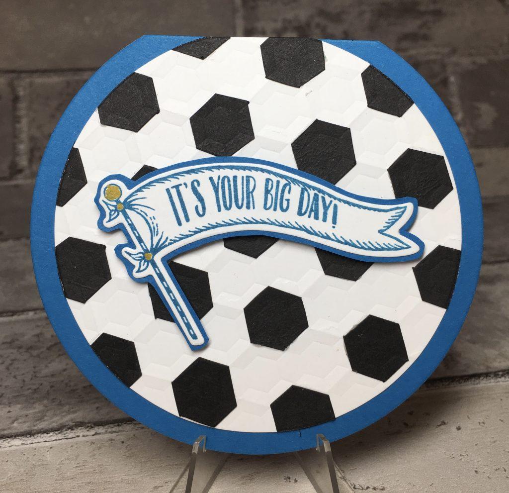 Soccer boy's birthday card
