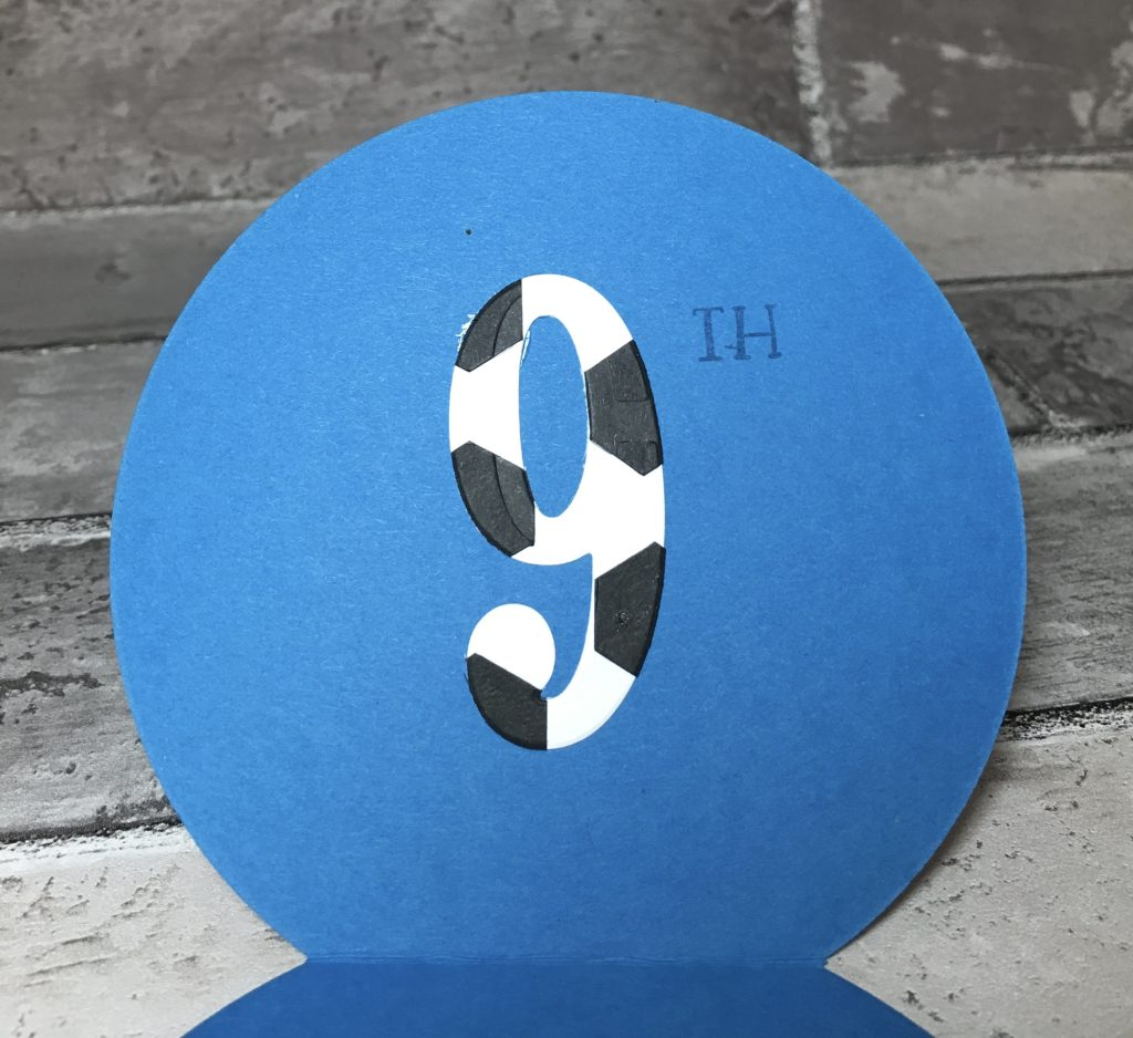 Number 9 cut from Large Numbers Framelits
