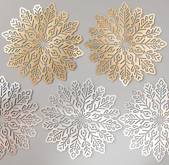 Foil Snowflakes, 144642