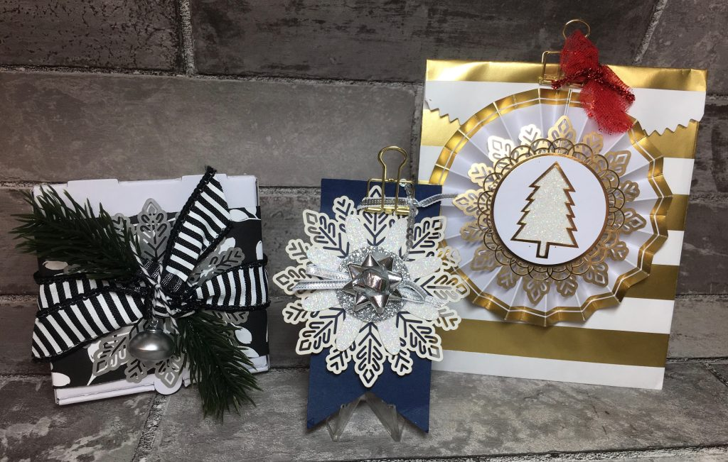 Foil Snowflakes, Mini Ornaments and Bows