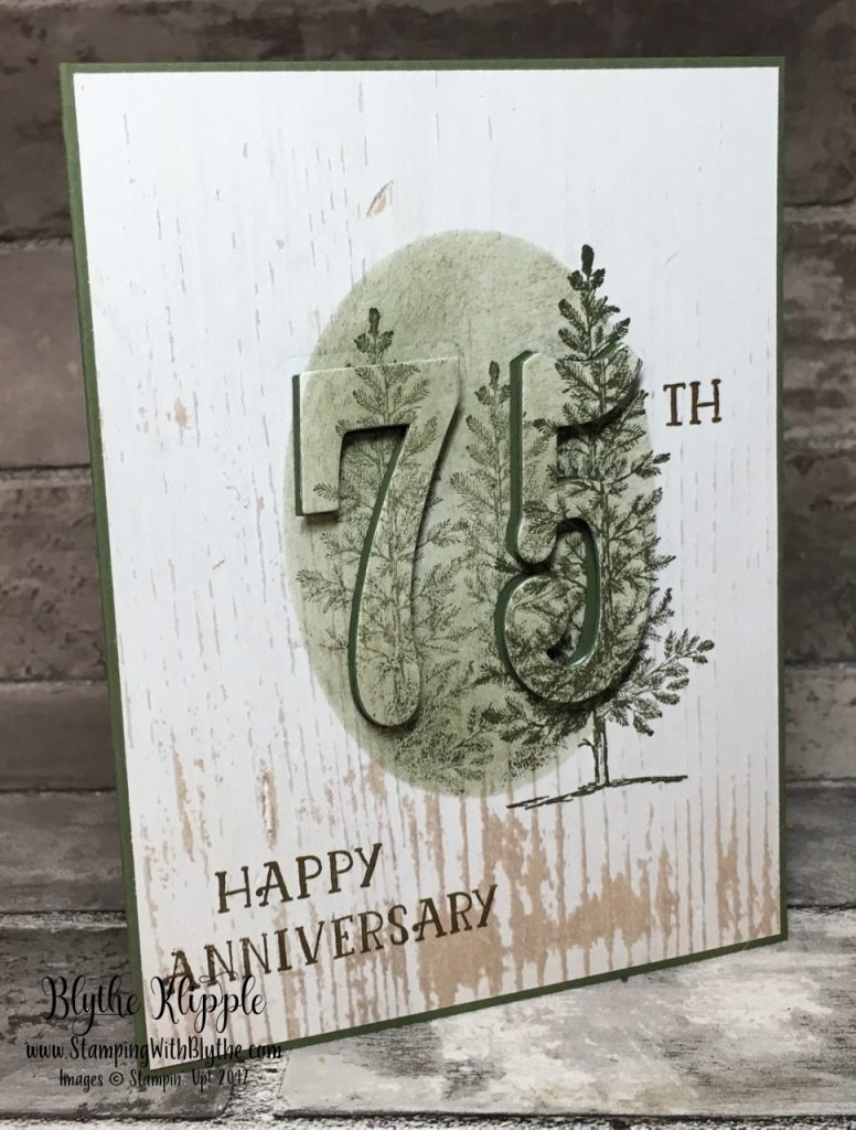 75th wedding anniversary card for Alvena and Maury