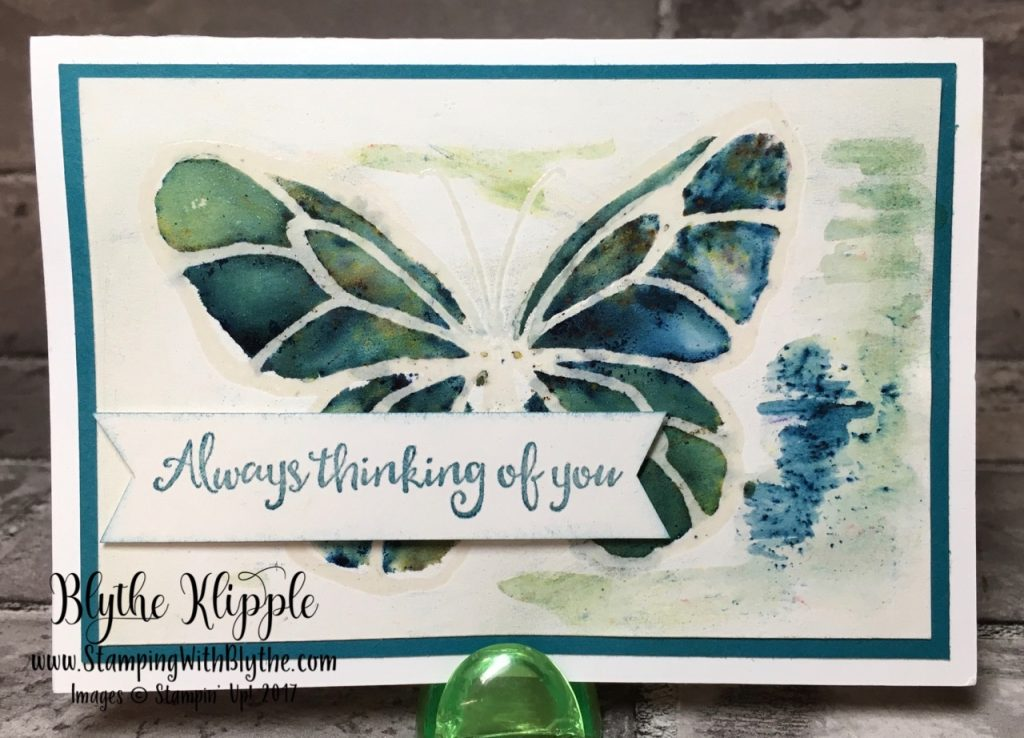 Brusho Watercolor Ink Crystals Take One - butterfly